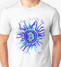 'Bitcoin Explosion' in blue Unisex T-Shirt