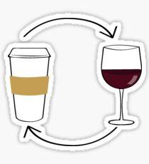 Kaffee Wein Sticker