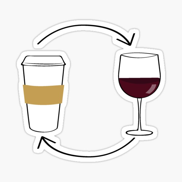 coffee wine Sticker
