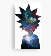 Rick and Morty Space Ship Canvas Print