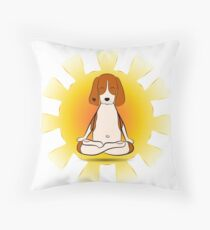 Yoga dog Throw Pillow