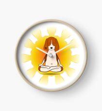 Yoga dog Clock