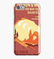 Travel Poster - Solar Eclipse at Arches National Park (2012) iPhone Case/Skin