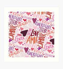 Love Languages Art Print