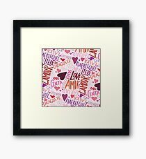 Love Languages Framed Print