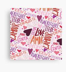 Love Languages Canvas Print