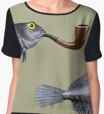 Magritte Fish Chiffon Top