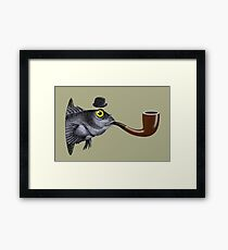 Magritte Fish Framed Print