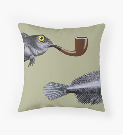 Magritte Fish Throw Pillow
