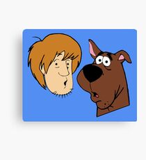 Shaggy And Scooby Canvas Print