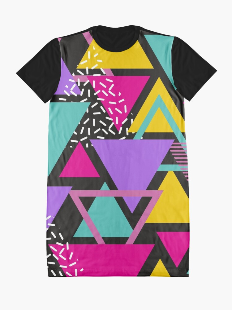 Alternate view of Memphis Triangles Graphic T-Shirt Dress