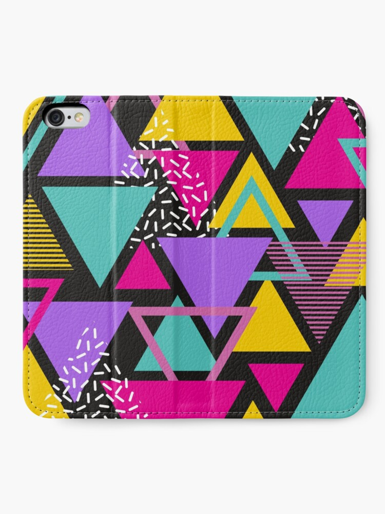 Alternate view of Memphis Triangles iPhone Wallet