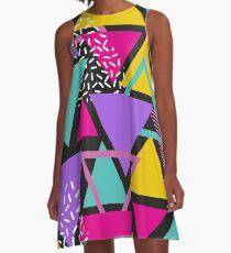 Memphis-Dreiecke A-Linien Kleid