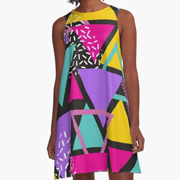 Memphis Triangles A-Line Dress