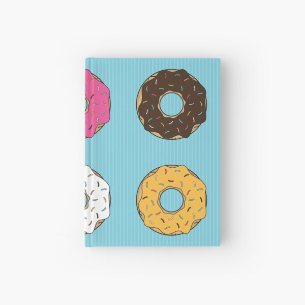 Tasty Donuts Pattern Hardcover Journal