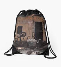 Inside A Black House Drawstring Bag