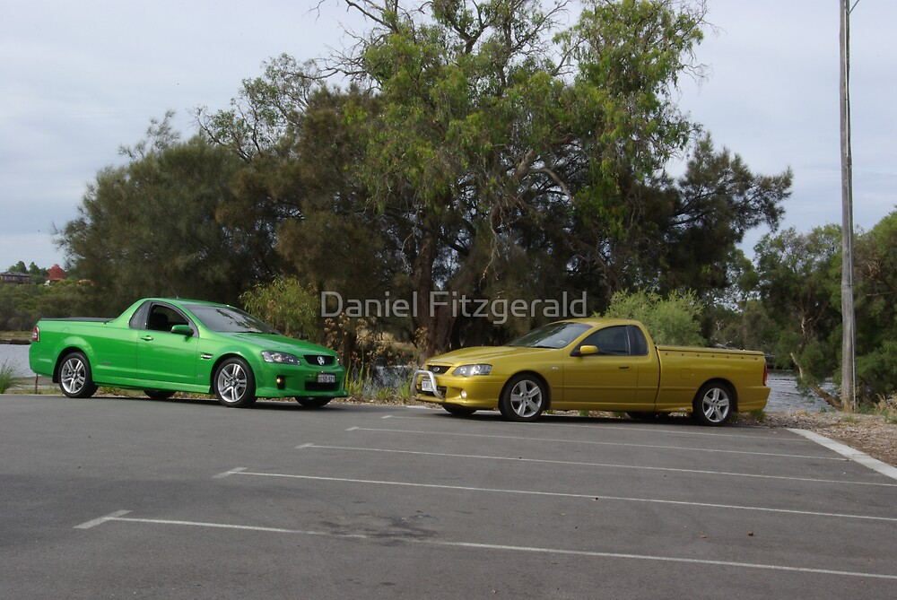 Holden V Ford by Daniel Fitzgerald