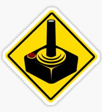 Gamer warning sign Sticker