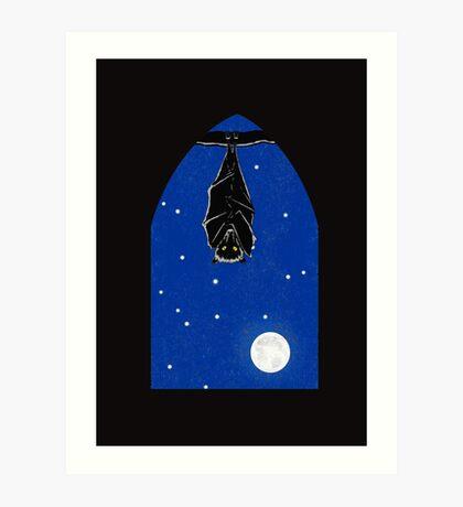 Bat in the Window Art Print