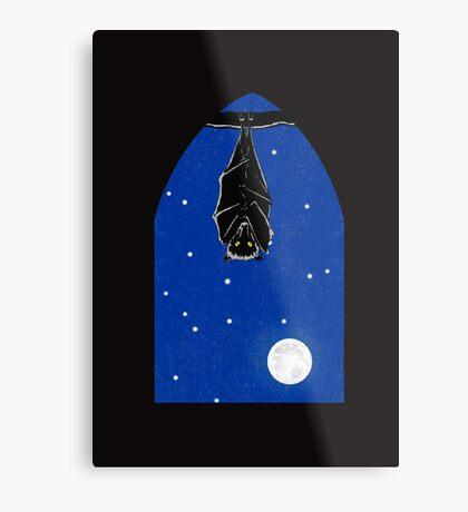 Bat in the Window Metal Print