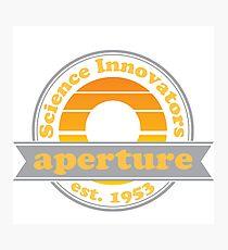 Aperture Science Innovators: Retro Photographic Print
