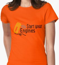baking - start your engines Womens Fitted T-Shirt