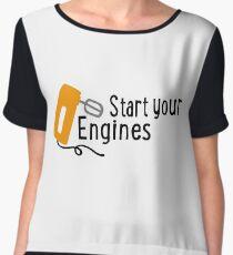 baking - start your engines Chiffon Top
