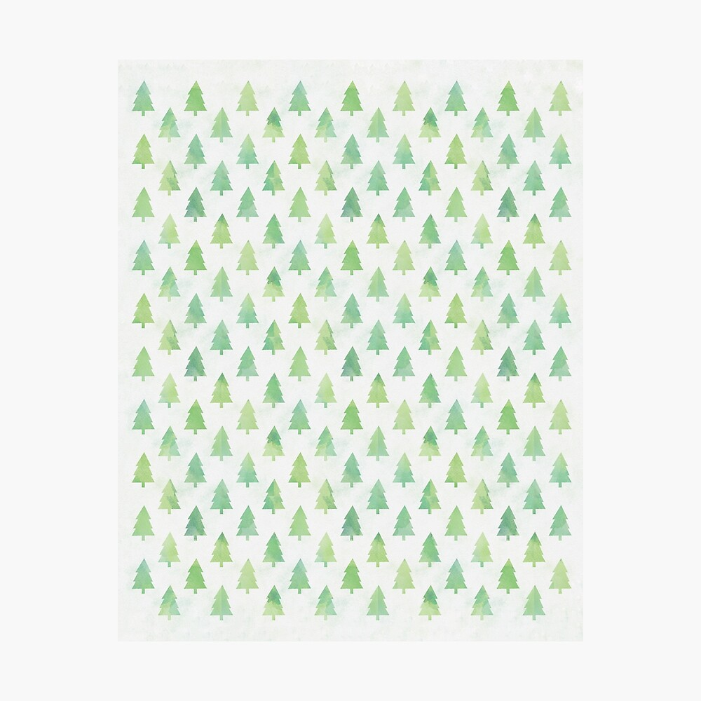 Simple Pine Tree Forest Pattern Photographic Print