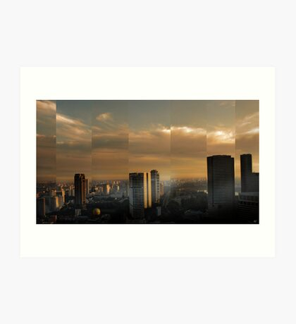 Singapore Cityscape Art Print