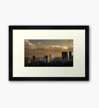 Singapore Cityscape Framed Print