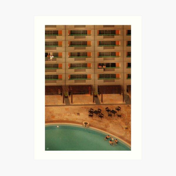 Hotel Pool Art Print