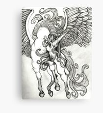 Thunder in the Clouds Unicorn Pegasus Fantasy Artwork Canvas Print