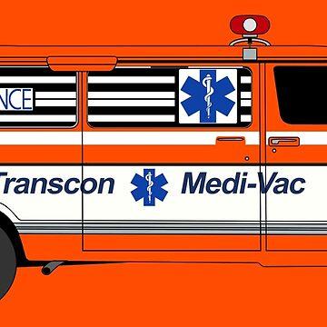 Cannonball Run - J.J. and Victor's Ambulance by UKMatt2000