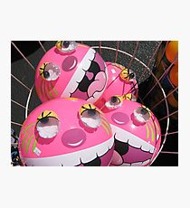 Pink Monster Beach Ball Photographic Print