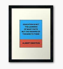 THE TRAINING OF THE MIND TO THINK Framed Print