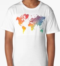 Map of the world colored Long T-Shirt