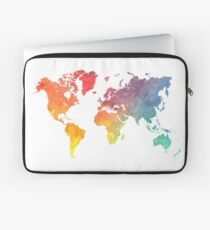 Map of the world colored Laptop Sleeve