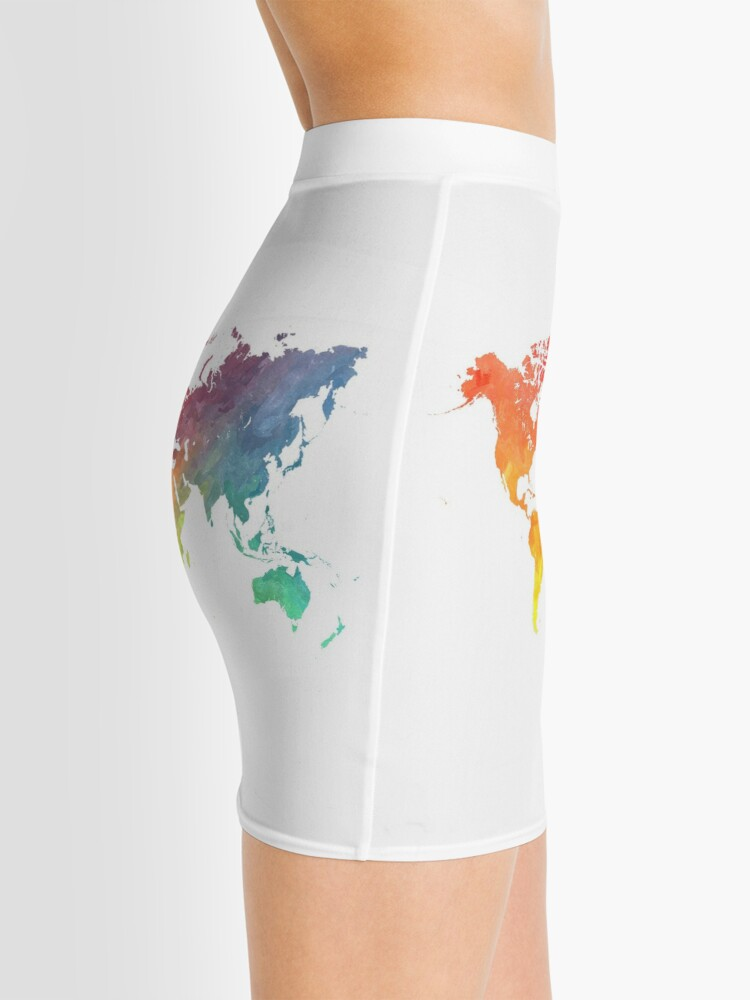 Alternate view of Map of the world colored Mini Skirt