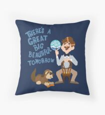 Man Has A Dream Throw Pillow