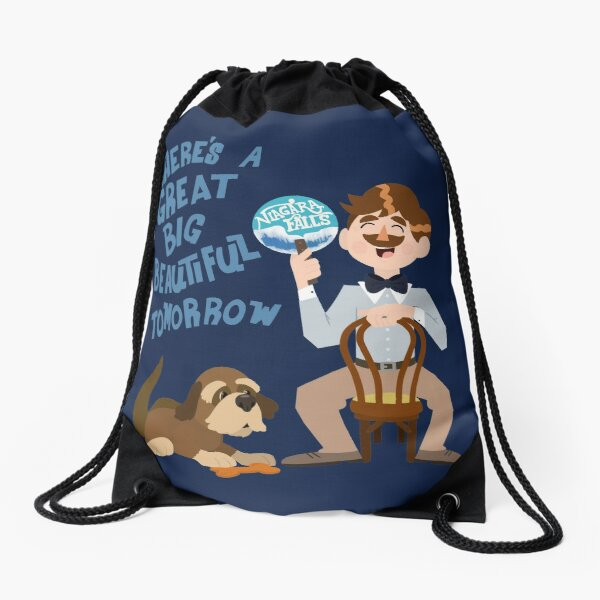 Man Has A Dream Drawstring Bag