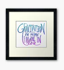 Einstein: Gravitation Framed Print