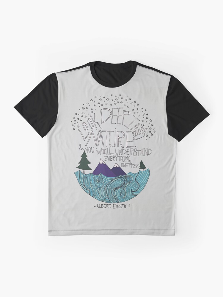 Alternative Ansicht von Einstein: Natur Grafik T-Shirt