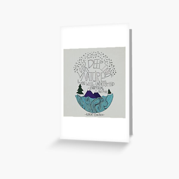 Einstein: Nature Greeting Card