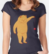 Bear with Yoyo Skills Women's Fitted Scoop T-Shirt