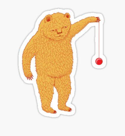 Bear with Yoyo Skills Sticker