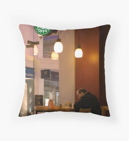 the last customer Throw Pillow