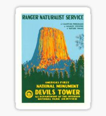 Travel Poster - Devil's Tower, the First National Monument Sticker