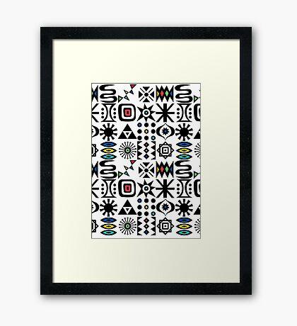 Flash Forward white Framed Print