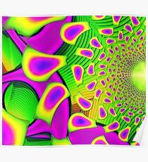 PsychoBerries 3d Glass Fractal Poster