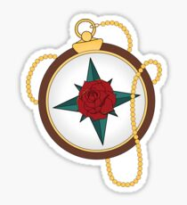 American Traditional Compass Sticker